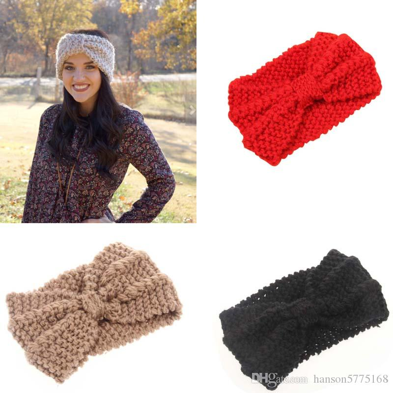 cbfe262f585 Lady Cozy Thick Knit Headband Turban Ear Warmer For Women Winter Headband  Bow Stretch Hairband Headwrap Childrens Hair Accessories Bows And Hair  Accessories ...