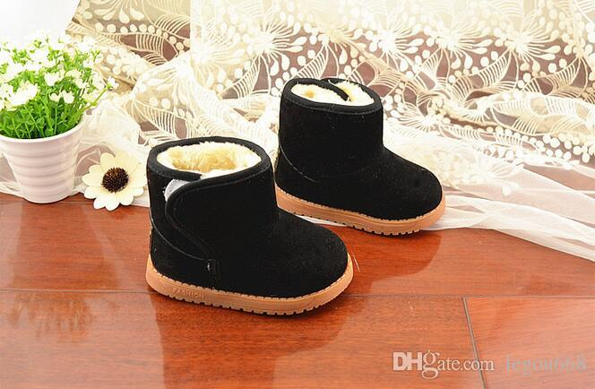 Chaussures pour enfants classiques hiver modèles épais chaud neige bottes enfants bottes de neige tendon à la fin chaussures en coton 21-30 JIA634