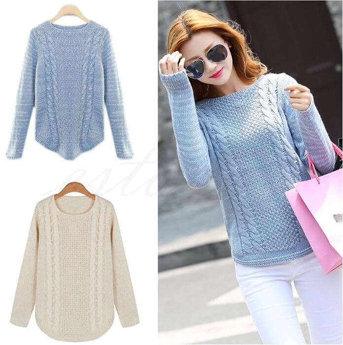 2015 Plus Size Autumn Winter Women Cardigan Knitted Sweater Jumper ...