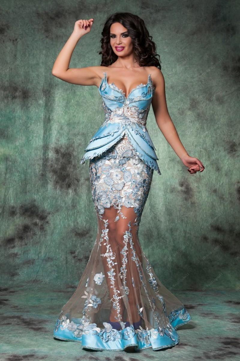 Plus Size Sereid Lace Tulle Noite Vestidos de Prom Sweetheart Chão Comprimento Árabe Roménia Vestidos de Noite Sheer Sexy Hot Party Vestidos