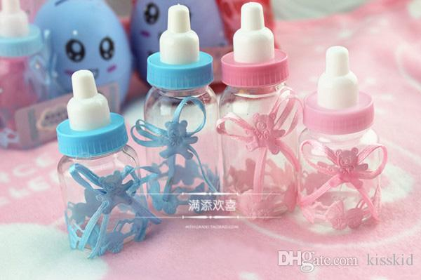 Wholesale - Baby Shower Little Bottle nursing bottle Baptism Favors Candy Gift Boxes Feeding bottle