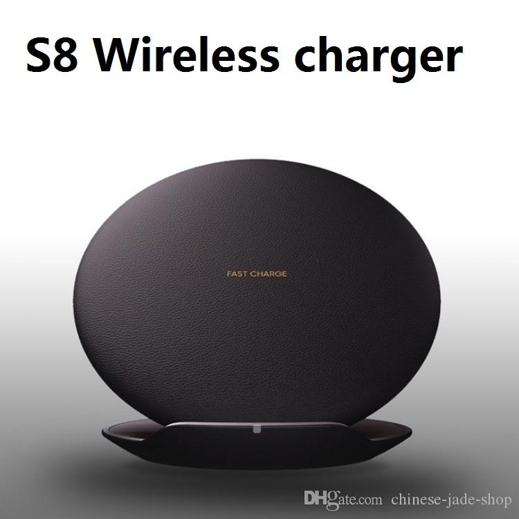 S8 Wireless Charger Convertible Pad Dock Stand Faster quick Charging for Samsung Galaxy S8 S8 Plus S7 IN retail no fan