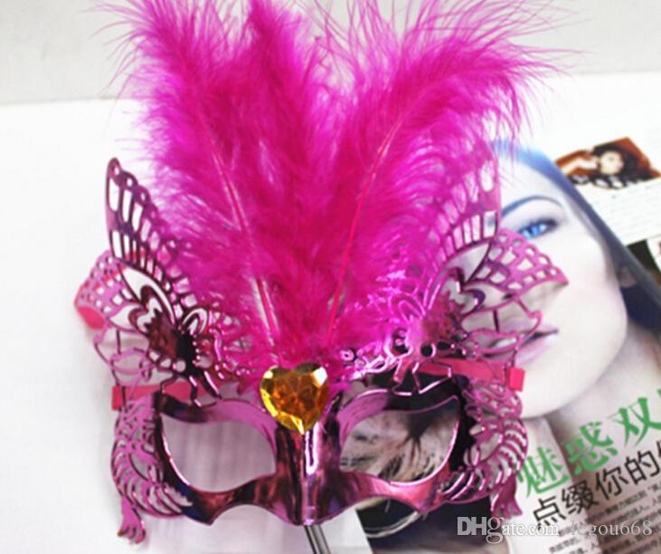 Mascherine veneziane di travestimento della maschera di Hallowmas delle donne sexy con la mascherina del partito di ballo della mascherina della piuma del fiore