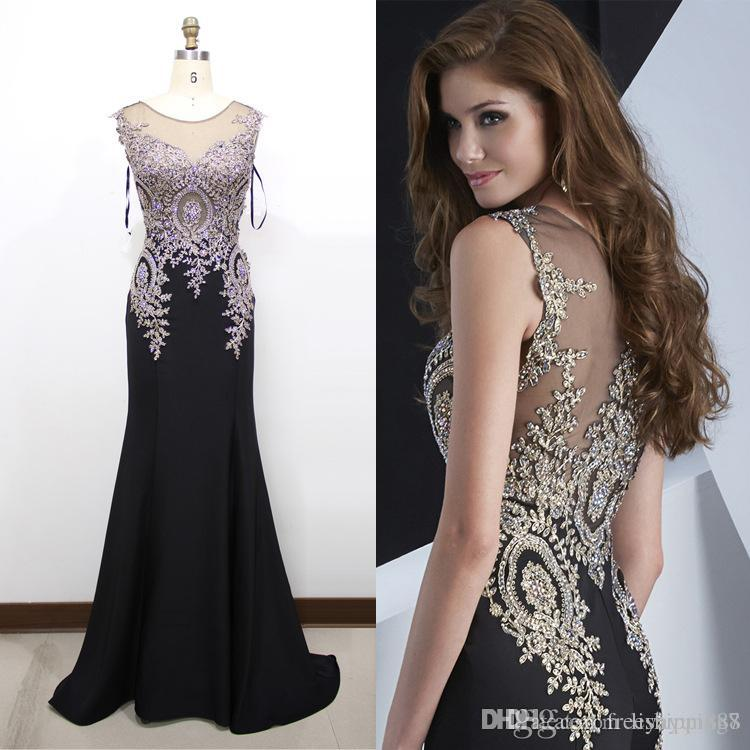 2015 Hot New Luxury Silk Formal Evening Gowns Rhinestone Sequin ...