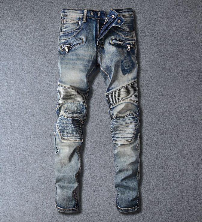 2017 Balmain Jeans Balmai New Arrival Fashion Designer Mens Jeans ...
