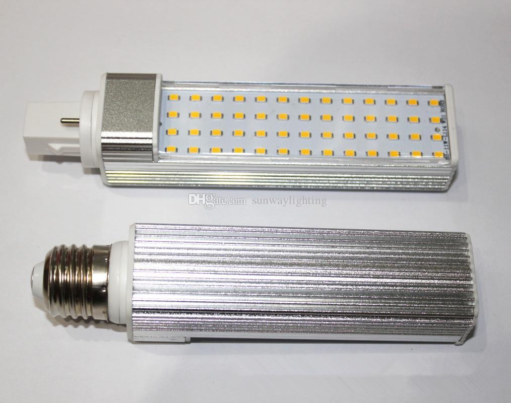 SMD 2835 LED Horizontal Plug Lamp E27 G23 G24 G24q G24d LED Corn light Bulbs 5W 7W 9W 10W 12W Down lighting AC85-265V