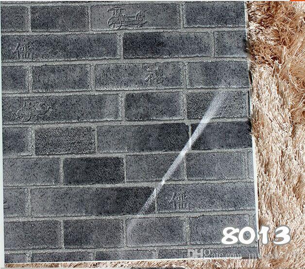 10m pvc chinois motif de briques d 39 imitation de style papier peint papier peint r tro culture. Black Bedroom Furniture Sets. Home Design Ideas