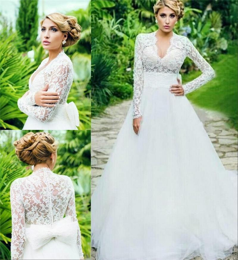 Discount Charmig Vintage Lace Plus Size Wedding Dresses 2015 A Line ...