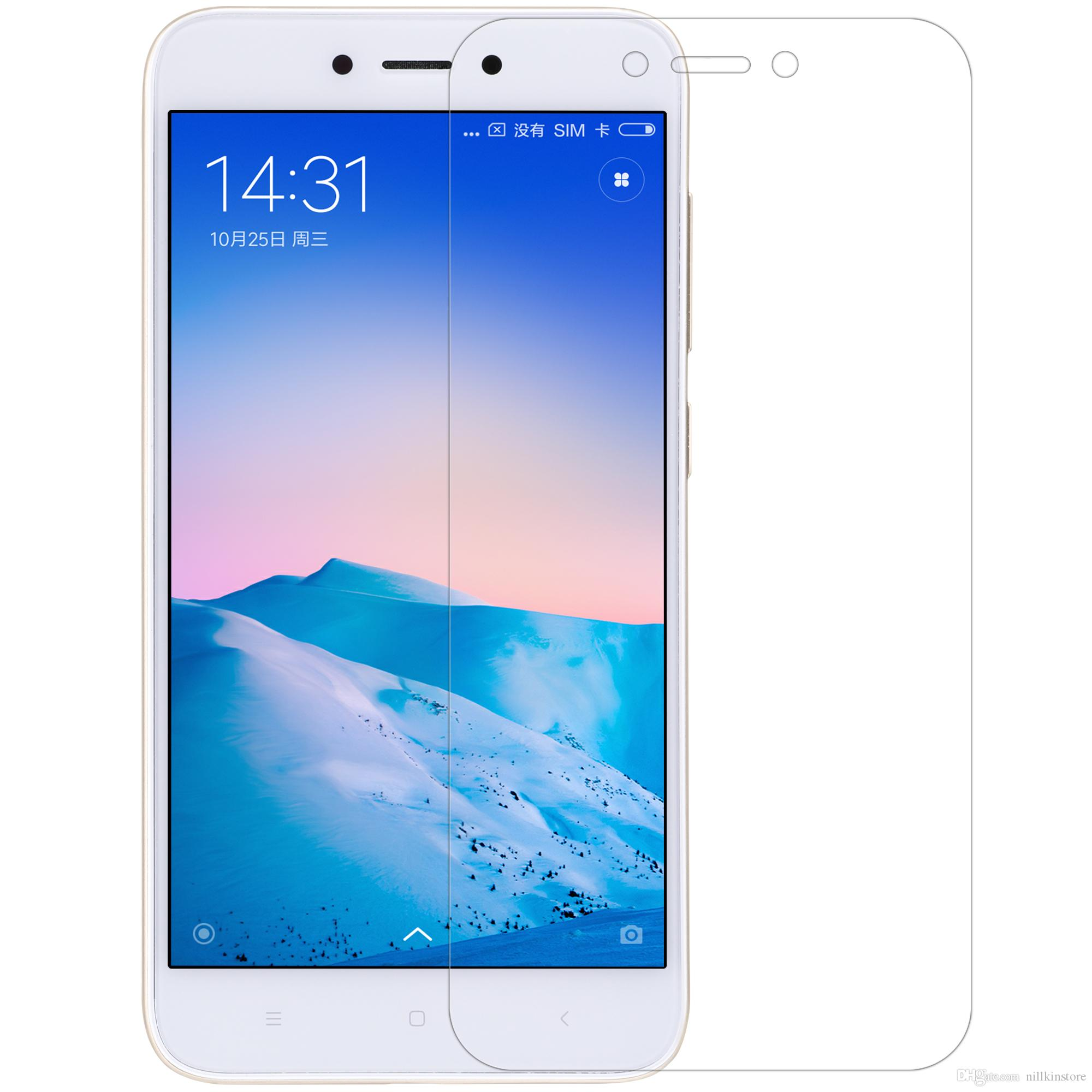 Wholesale Nillkin Screen Protector For Xiaomi Redmi 5a Glossy Super Clear Protective With Retailed Package Explosion Proof Tempered Glass Screen