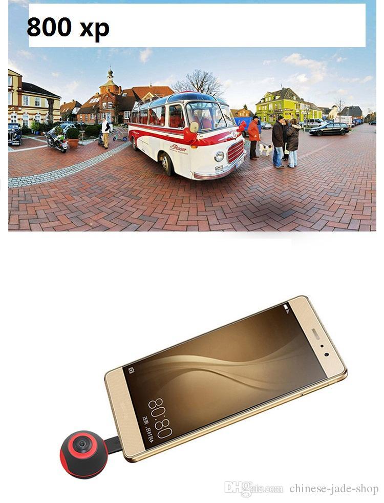 Mini 360 Grados Panorama VR Cámara HD Sport DV 720 ° Dual Fish Eye Lens Para Type-c Micro usb Android Smartphone Pano S1 /