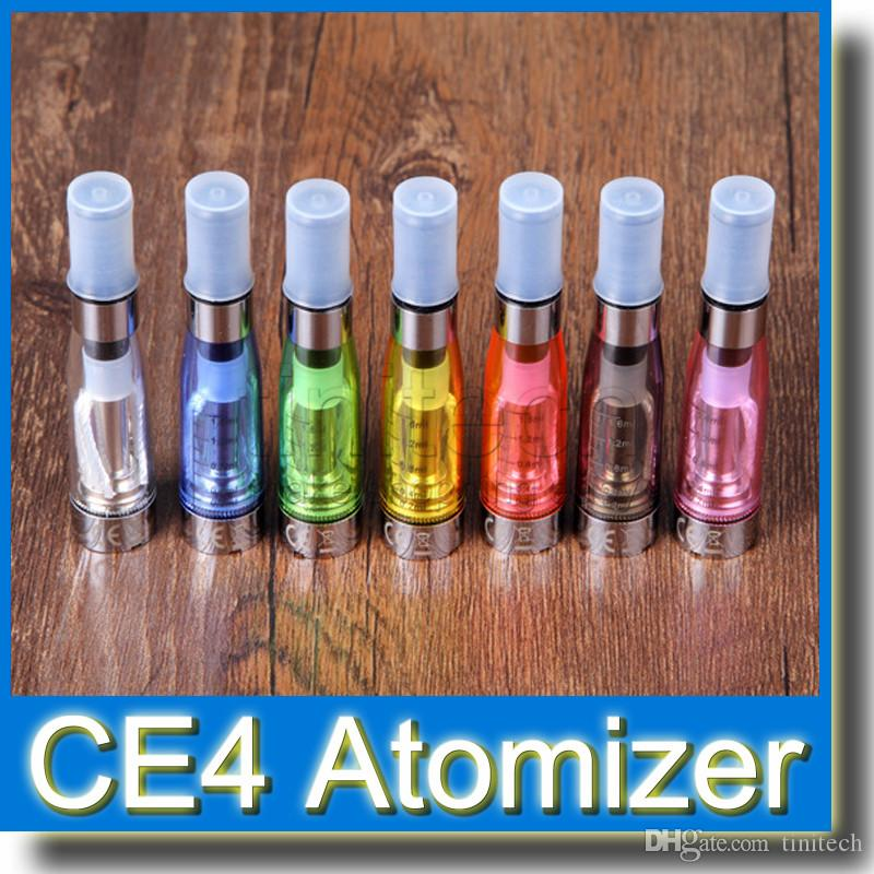 Factory price Newest Cartomizer CE4 Clearomizer colorful 1.6ml EGO atomzier e cig perfect match with Ego t Ego W Ego K battery