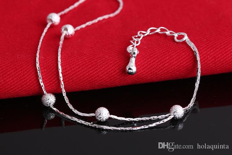 2017 Hot Sale Silver color Fashion Bracelet Bead Bracelets for Women Silver color Friendship Bracelets Fine Jewelry