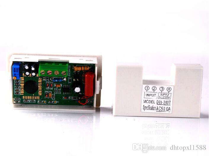 AC 0-50A display LCD digital atual amp ampere painel medidor medidor amperímetro digital fonte de alimentação 220 V AC