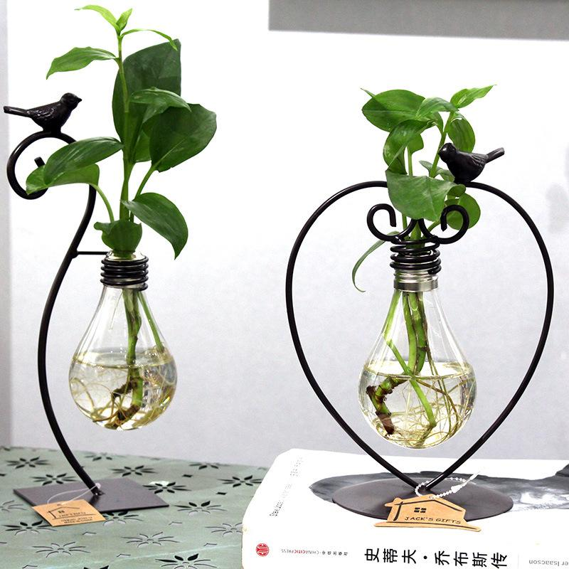2 Types Modern Style Glass Tabletop Plant Bonsai Flower Wedding