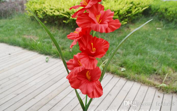 Pojedyncza symulacja 8 kolorów jedwab sztuczna roślina orchidea Orchidea Orchidea Arting Art do salonu Direction Th016