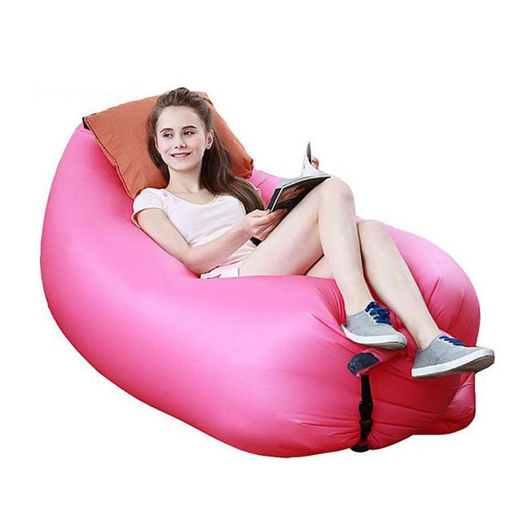 Lounge Saco de Dormir Preguiçoso Inflável Beanbag Cadeira Do Sofá, Sala de estar Saco de Feijão Almofada, Ao Ar Livre Auto Inflado Beanbag Móveis