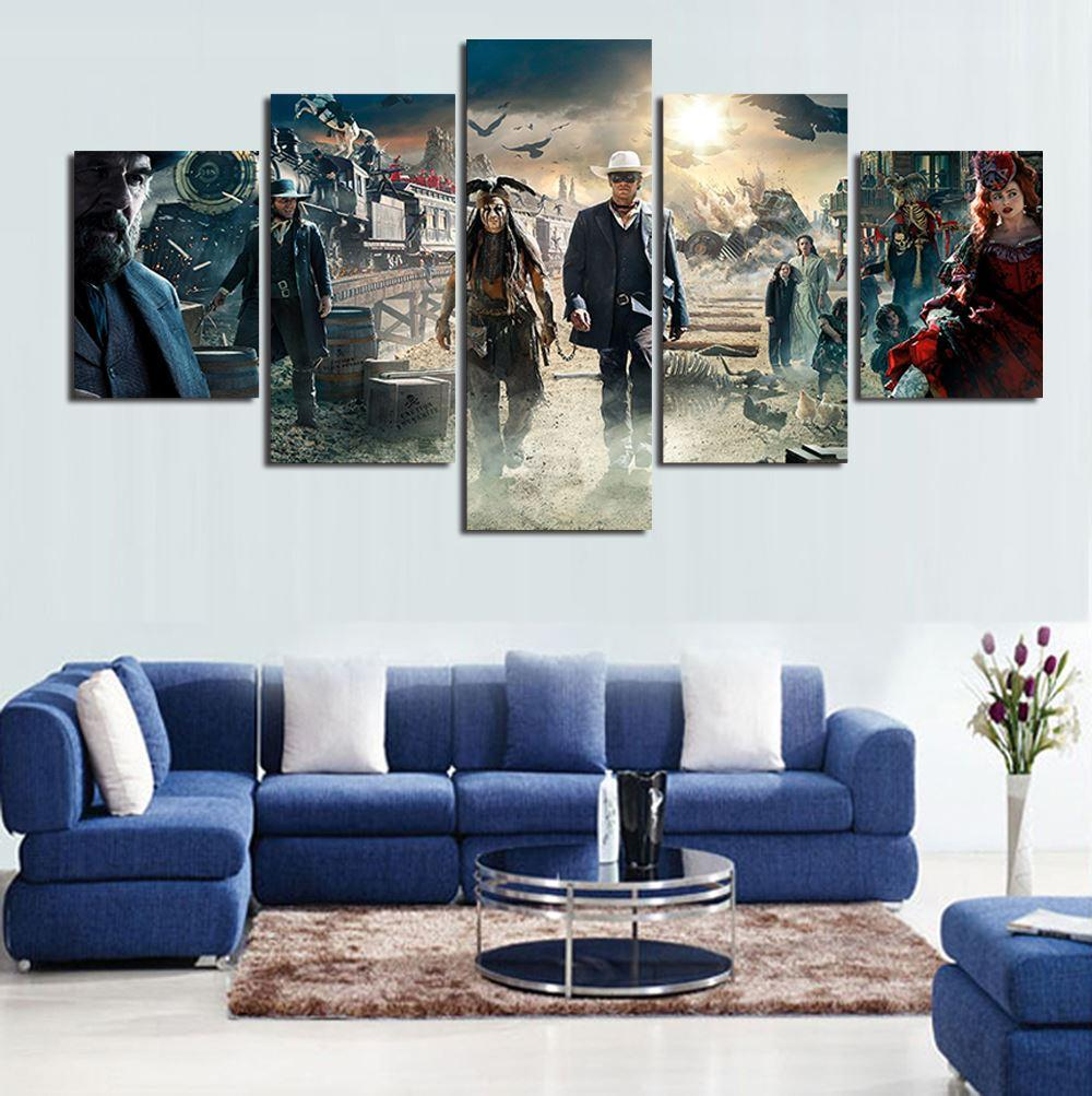 5 Panels Hot Sell Lone Ranger The Abstract Modern Home Wall Decor Painting Art HD Print Painting Canvas Painting Wall Picture