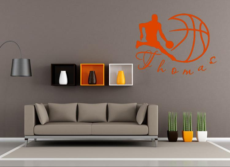 Boys And Basketball Wall Art Mural Decor Kids Room Wallpaper Poster Graphic Home Decal Nursery Decals From