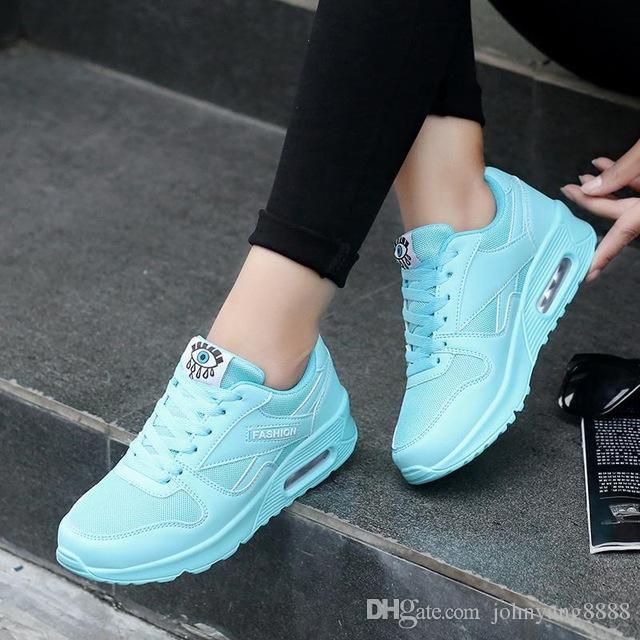 9bd59cc7cdb Compre 2017 Moda Coreana Zapatos De Mujer Primavera Tenis Feminino Zapatos  Casuales Zapatos Para Caminar Al Aire Libre Mujeres Pisos Pink Lace Up  Zapato De ...