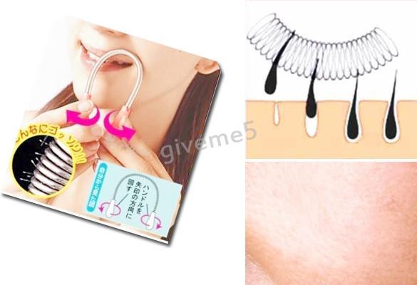/Facial Threading Epistick Epilator Spring Hair Remover Removal Stick