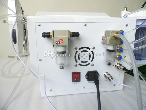 4 in 1 Dermabrasio Hydro Dermabrasion 다이아몬드 미세 박피술 산소 제트 필링 초음파 피부 스크러버 Hydra Dermabrasion 기계