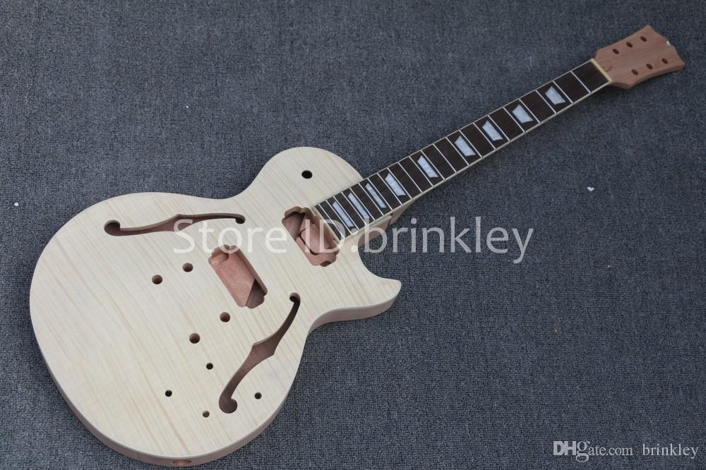 Chitarra elettrica all'ingrosso di alta qualità di Brinkley Kit fai da te Set Corpo in mogano Tastiera in palissandro chitarra, chitarra incompiuta