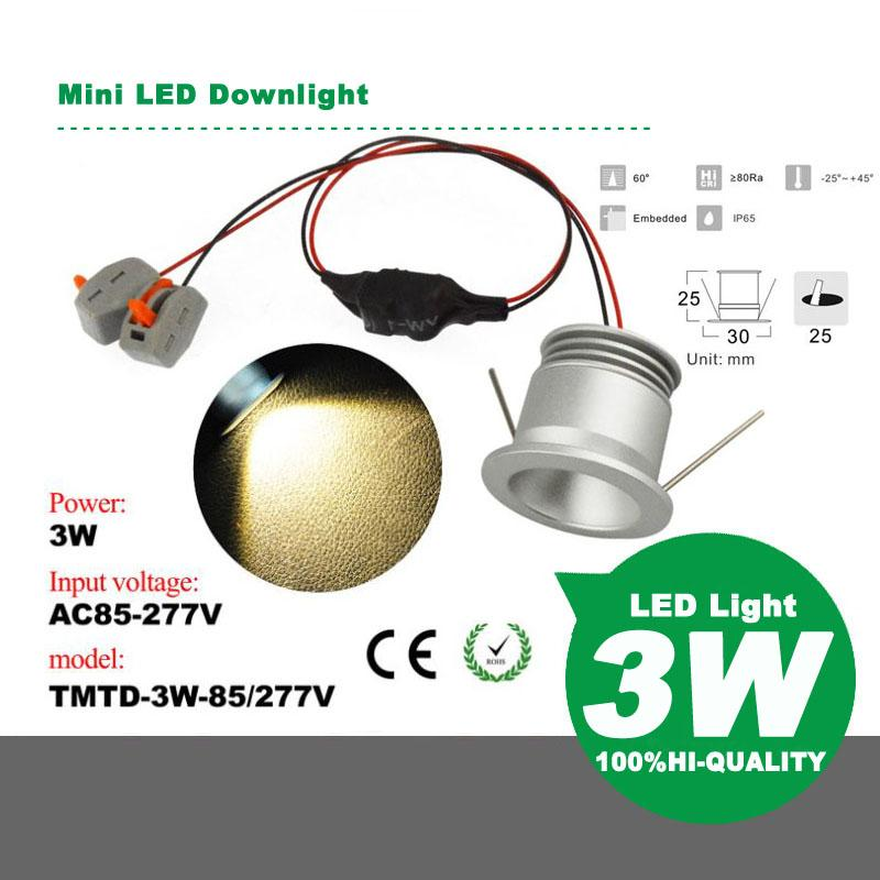 Mini LED Downlight 3W AC85-277V LED Light LED Lamp LED Bulb Energy Saving Light Energy Saving Lamp