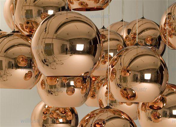 Modern Copper Ring Led Pendant Lighting 10758 Shipping: Hot Selling Tom Dixon Copper Shade Chandelier 20 25 30 35