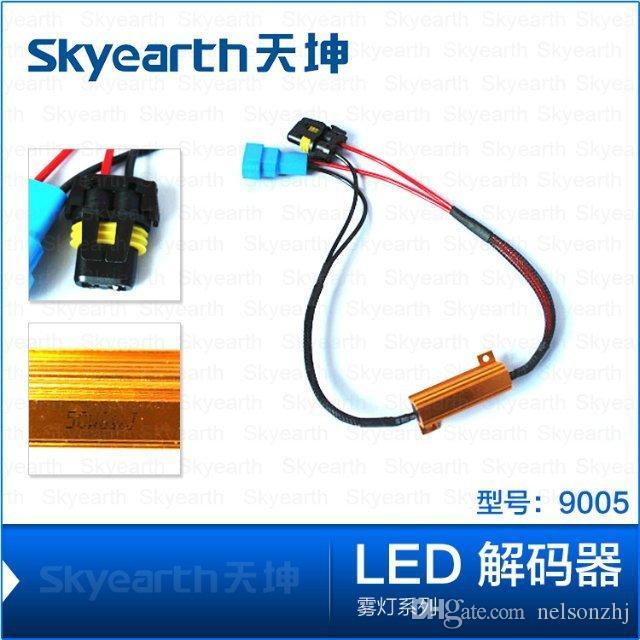 Venta al por mayor H1 H3 H7 H8 H11 9005 9006 LED resistencia a la carga de error de la lámpara antiniebla 50 w 6-8 ohm sin cancelación de advertencia parpadeo para luces / lámpara led