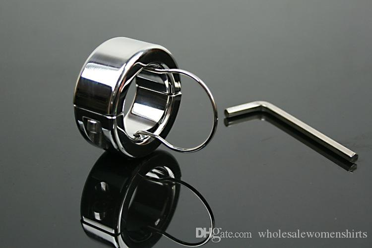 Stainless Steel Ball Stretcher Dragon Cock Rings Chastity Male Scrotum Bondage Device Adult Sex Toys Testicle Stretcher Ball Weight on sale