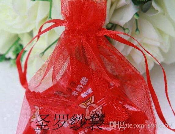 All'ingrosso-i scegliere il regalo di nozze di lusso Organza favore di nozze Xmas Gift Bags sacchetti di gioielli 7x9cm 120402-120413