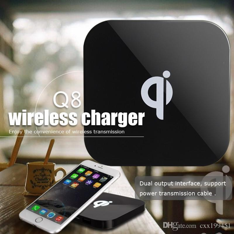 Q8 Qi Wireless Charger Charging Pad for Samsung S7 S7 Edge S8 plus Iphone 8 X with