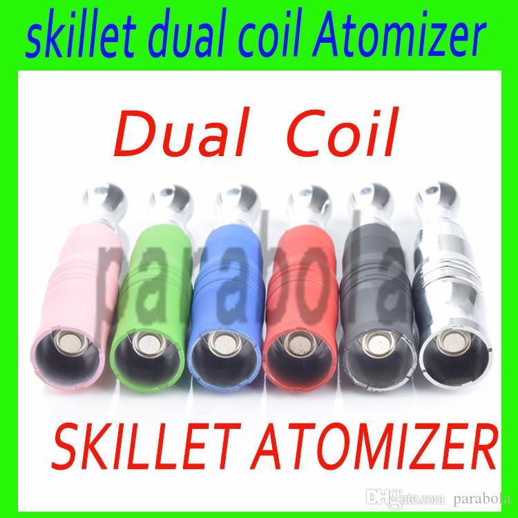 Patelniowa parownik 510 atomizer woskowy podwójny ceramiczny cewki atomizer wymiana głowicy cewki Skilet EGO D Wax Atomizer Double Ceramic Rod Vaporyzer