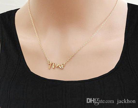 - N111 골드 실버 간단한 고마워 부인 목걸이 작은 스탬프 단어 초기 목걸이 간단한 사랑 알파벳 문자 목걸이