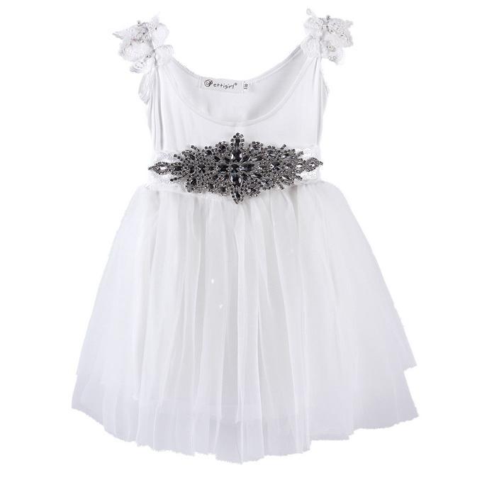 24af7d045 2019 Pettigirl Best Sellers Elegance Girls Autumn Dresses White Kids ...