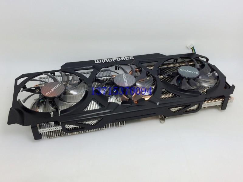 New Original for Gigabyte 3GD GV-N780OC-4GB GTX780 graphics radiator 6 heat pipe radiator cooler cooling fan