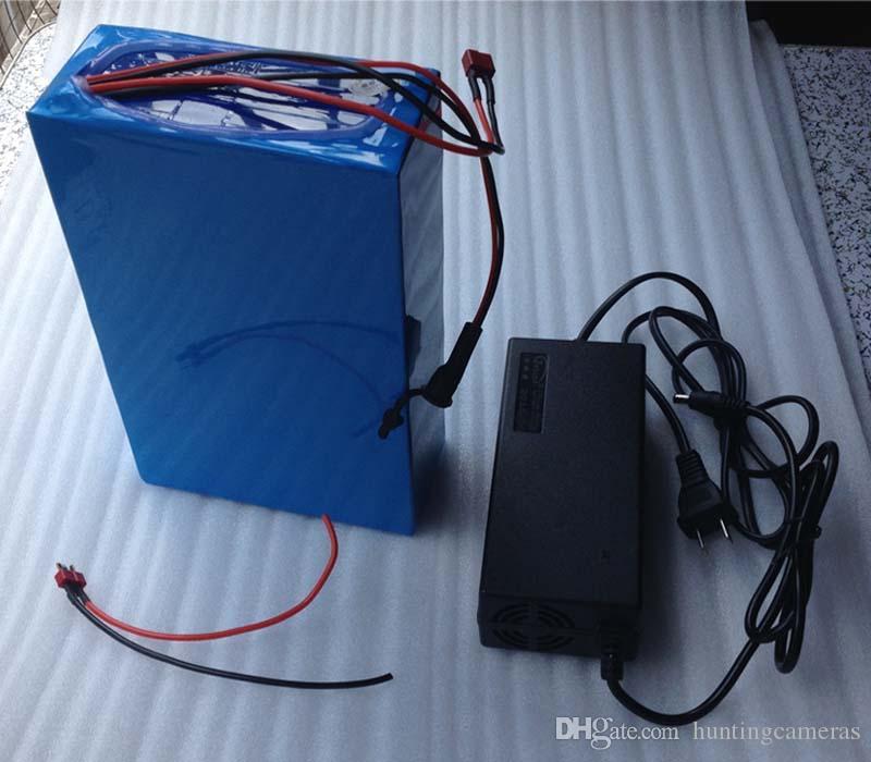 A +送料無料卸売充電式700W 48V 12Ahリチウムイオン電池電動バイク電池、2A充電器15A BMS e-BIKE電池