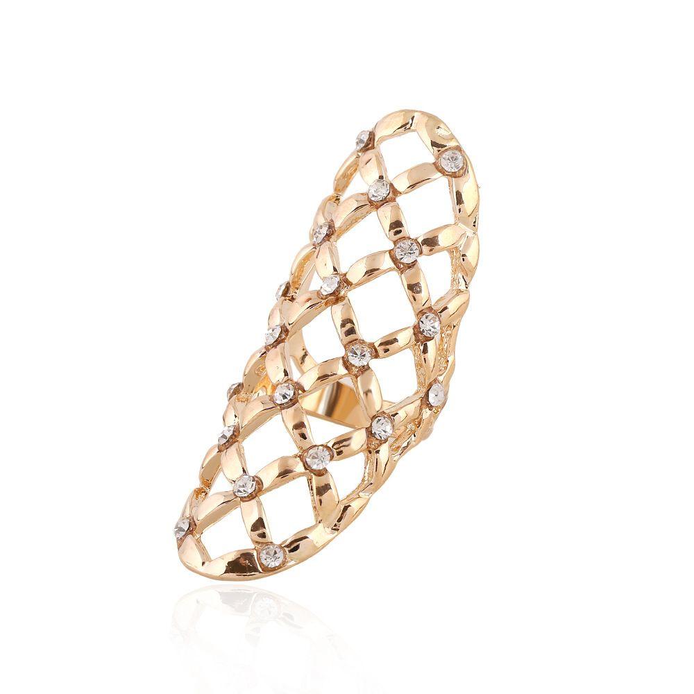 Vendita calda squisita CZ anelli di diamanti hollow modelli geometrici anelli dito chiodo anelli donne gioielli dichiarazione i W933
