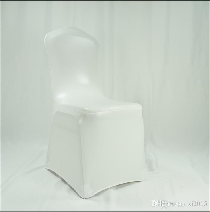 En gros bronzage élastique Spandex couverture de chaise pour l'utilisation de mariage diverses couleurs DHL Fedex livraison gratuite # 121
