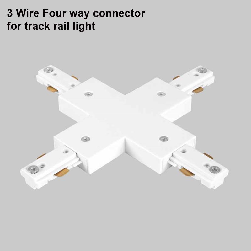 LED Track Rail 1m 3 Wire Track Lighting Fixture Connnector Universal Rail Spotlight Fixtrure Clothing Shoe Shop For America Australia Canada