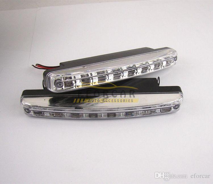 라이트 헤드 램프 DRL 일광 키트 무료 배송을 실행 화이트 8 LED 12V 자동차 트렁크 주간