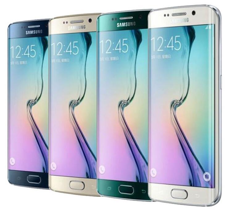 100% recondicionado Original Samsung Galaxy S6 Edge G925 Celular Octa Core 3GB RAM 32GB Rom 4G LTE 16MP 5.1