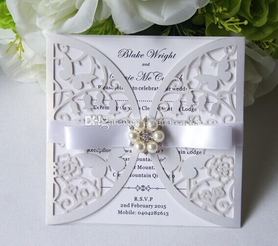 Laser Cut Butterfly Wedding Invitations Wholesale Envelope