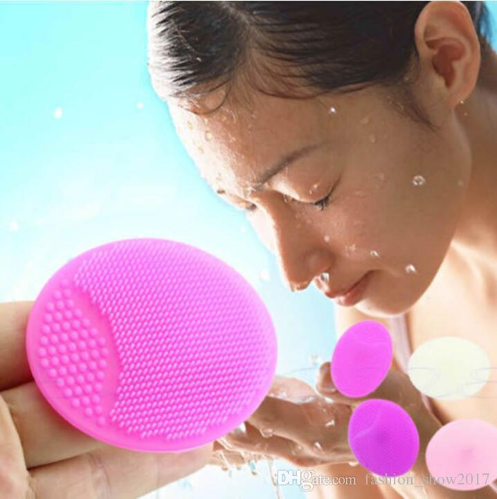 Facial Esfoliante Escova Infantil Do Bebê de Silicone Suave Lavagem Rosto Almofada de Limpeza da Pele SPA Esfrega Cleanser Ferramenta