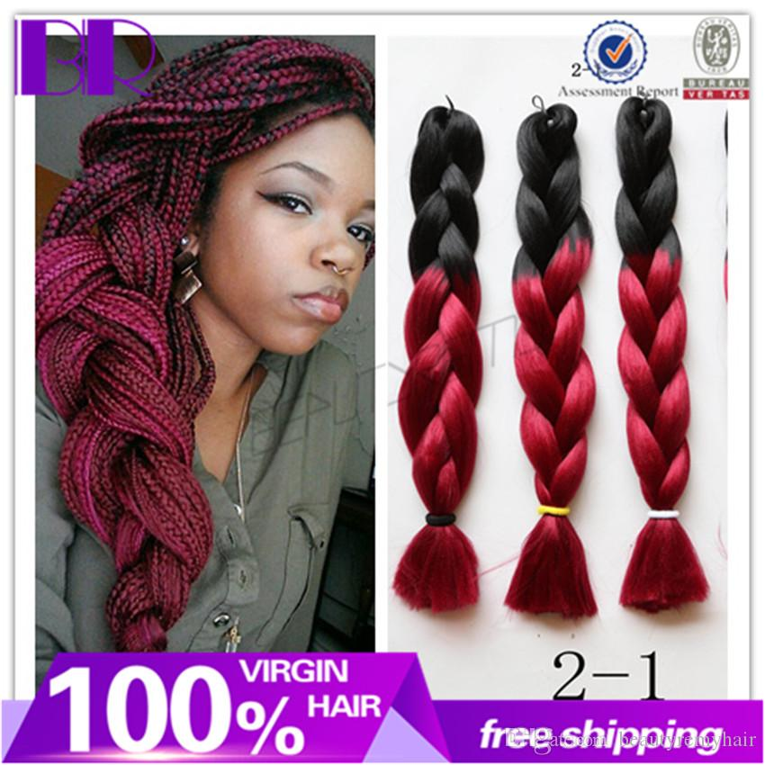 ombre synthetic hair for braiding ombre synthetic hair