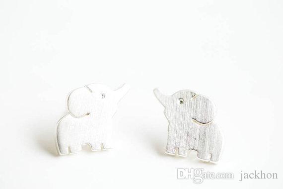 صغيرة الفيل مسمار تصميم أقراط أزياء لطيف مجوهرات الطفل الفيل الأزرار القرط الاطفال الحيوان للمرأة