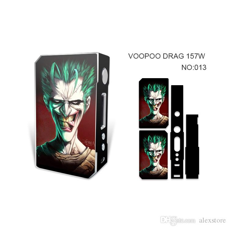 VOOPOO DRAG 157W Skin Wraps Sticker Cases Cover for DRAG 157 W TC Box Mod Vape Protective Film Stickers With Fashion 14 Pattern