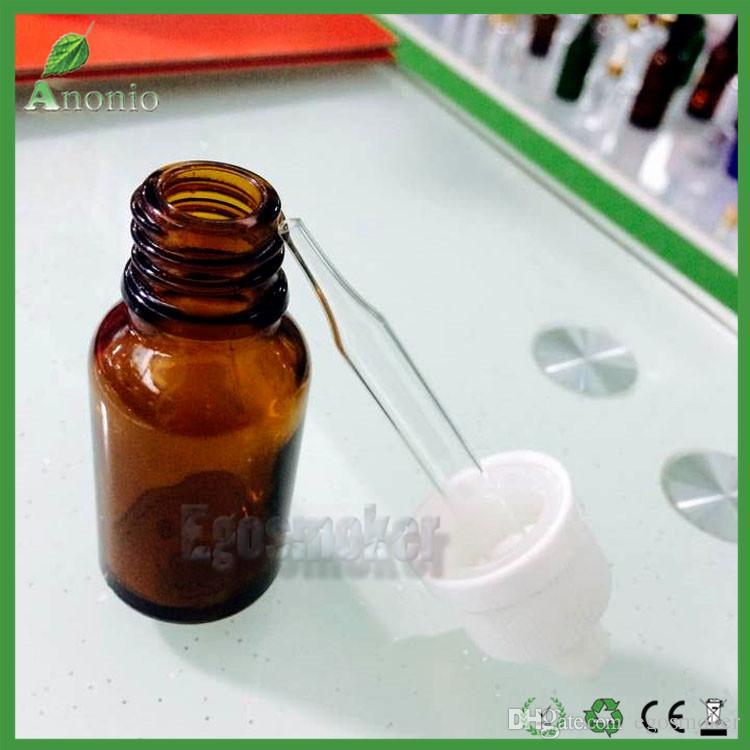 Wholesale Free 5ml 10ml 15ml 50ml 30ml Cosmetic E-liquid Bottles Brown Glass Dropper Bottles Oil Bottles Glass Ejuice Bottles