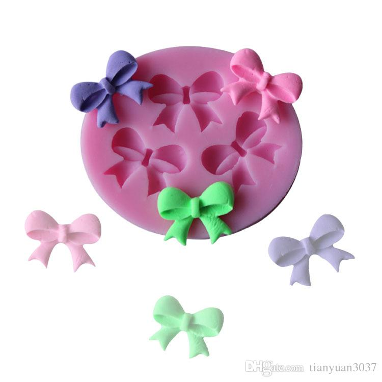 3d Bow Fondant Chocolate Mould Candy Cake Soap Mold Cake Decorating