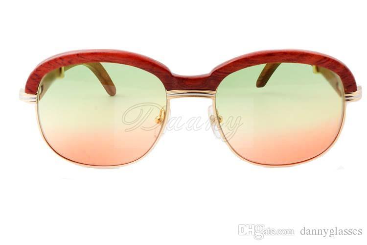 Новые высококачественные натуральные солнцезащитные очки леггинсы, деревянные полный кадр модные солнцезащитные очки высокого класса 1116728 Размер: 60-18-135 мм
